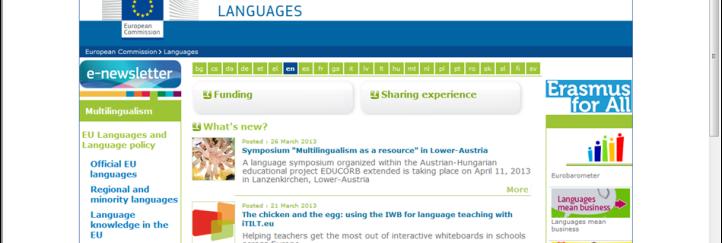 EU-Kommission unterstützt Sprachensymposium des Regionalverbandes!