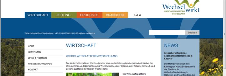 Neuer Webauftritt für die Wirtschaftsplattform Wechselland
