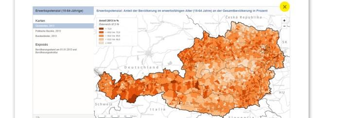 Statistische Daten in Kartenform über die Region gratis downloadbar